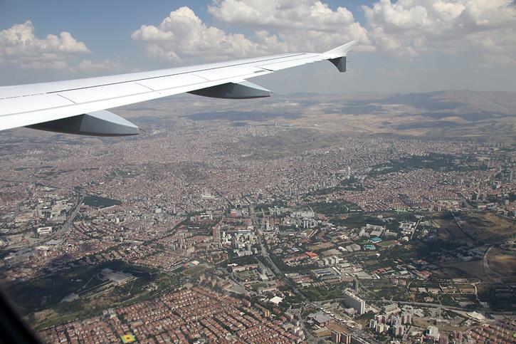 Anflug auf Ankara