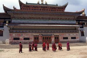 Kloster in der Provinz Amdo Nordosttibet - China
